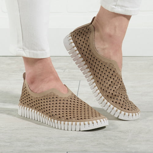 Breathable Flex Sole Slip Ons